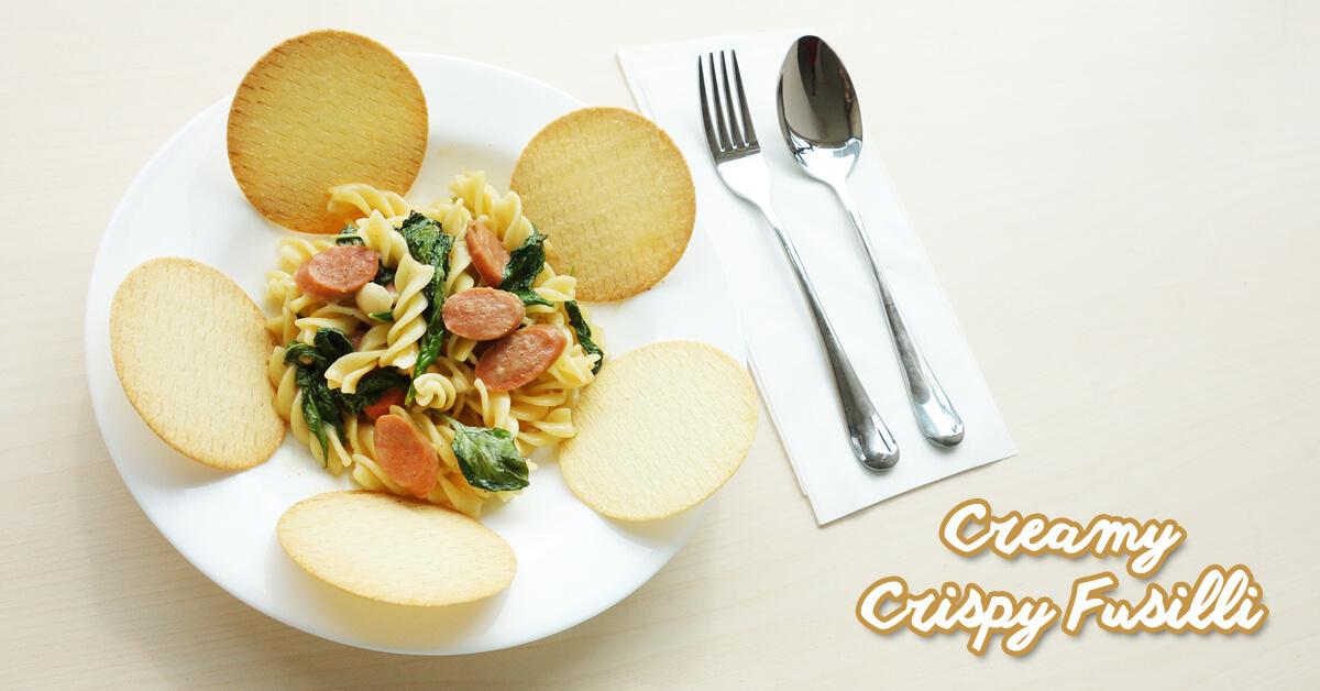 Crispy Creamy Fusilli