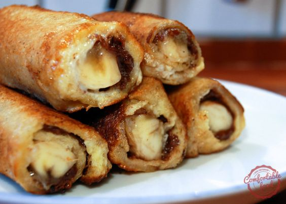 Roti gulung coklat pisang